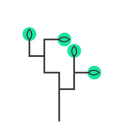 simple schematic tree icon vector image vector image