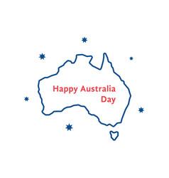Thin line happy australia day vector