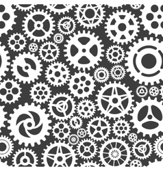 White gears on grey seamless patern vector