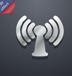 Wi-fi internet icon symbol 3d style trendy modern vector