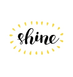 Shine brush lettering vector