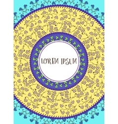 Card with colorful mandala vector