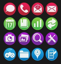 Mobile phone icon gradient style vector