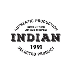 Authentic indian product stamp vector image