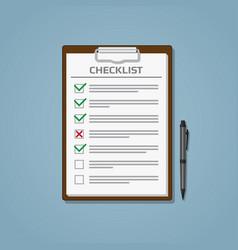 checklist in notepad vector image