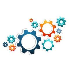 Working gears teamwork vector