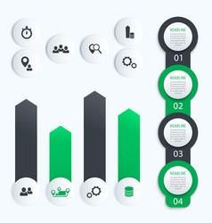 vertical timeline business infographics vector image