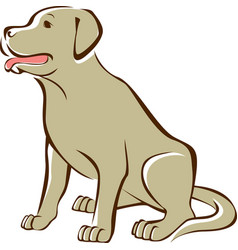 golden retriever outline drawing vector image