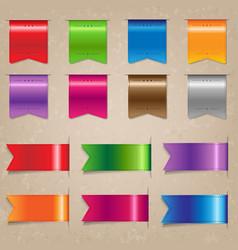 Big colorful ribbon set vector