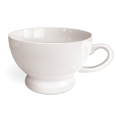 White cup for tea vector
