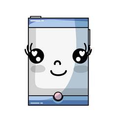 Kawaii cute happy smartphone technology vector