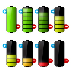 Battery life icon set isolated on white background vector