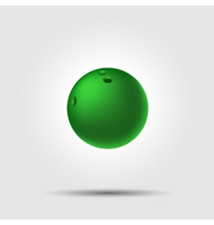 Bowling ball 8 on white background with shadow vector