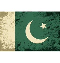 Pakistani flag grunge background vector