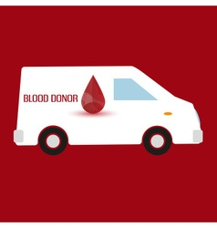 Human blood donor fast transportation healthcare vector