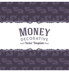 Decorating design made of isometric dollar vector