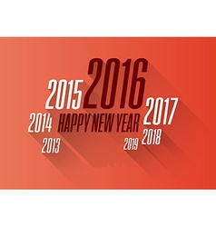 New year 2016 wishes card vector