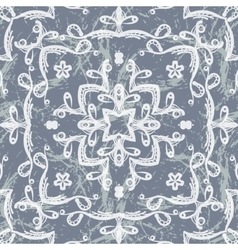 Seamless pattern imitating lace vector