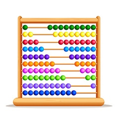 Colorful abacus with wooden frame vector