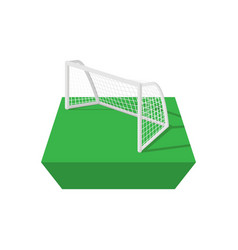 Football goal cartoon icon vector