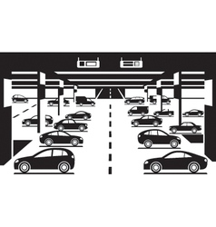 Underground car parking vector
