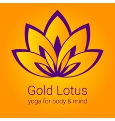 Lotus flower as a symbol of yoga vector