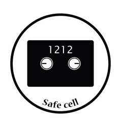 Safe cell icon vector