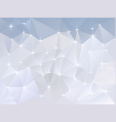 Abstract irregular polygon background snow vector