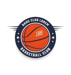 Basketball club logo vector image vector image