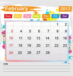 Calendar february 2013 vector