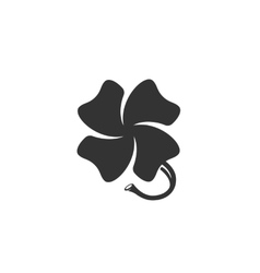 Clover icon isolated on a white background vector image vector image