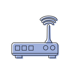 Color router digital wifi technology network vector