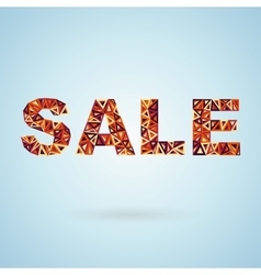 Colorful Sale Label vector image