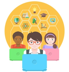 Computers for Education vector image vector image