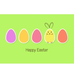 Easter eggs and bunny vector image vector image