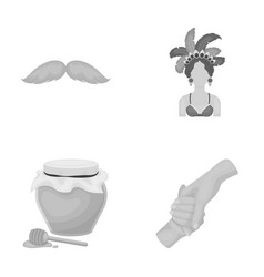 Hairdresser beekeeping and other monochrome icon vector