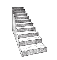 Hand drawn staircase sketch vector