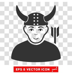 Horned warrior eps icon vector