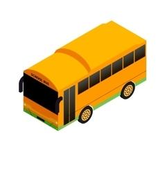 Isometric school bus vector image vector image