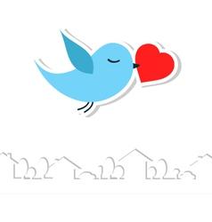love bird vector image vector image