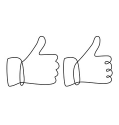 ok hand sign vector image vector image