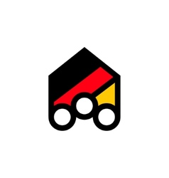 People of germany abstract sign vector