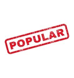 Popular Rubber Stamp vector image