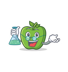 Professor green apple character cartoon vector