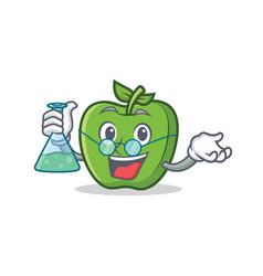 Professor green apple character cartoon vector
