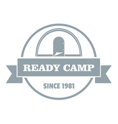 ready camp logo vintage style vector image vector image