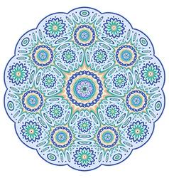 Round ornamental geometric pattern vector image vector image