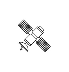 Satellite line icon navigation and communication vector