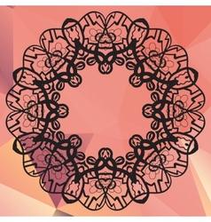 Stylized mandala Geometric circle element made in vector image vector image