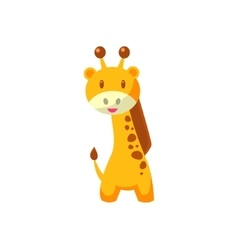 Toy African Giraffe vector image